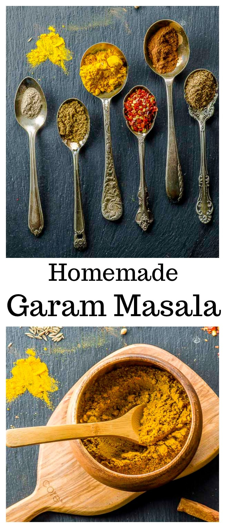 From sweet to pungent, our Homemade Garam Masala spice blend stays true to its Ayurvedic roots – it awakens the palate and delivers a balance of flavors to your food that will create optimal health. #Garam Masala #Spice Mix #Curry #Indian #Recipes #Vegan #Spciy