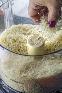 kataifi shredded in a food processor