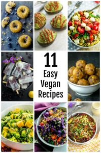 11 easy vegan recipes collage