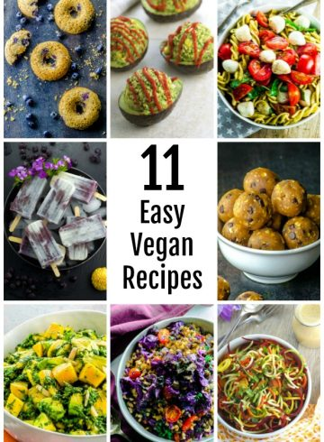 11 easy vegan recipes collage