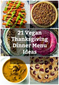 a collage of thanksgiving dinner menu ideas