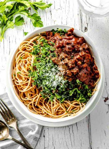 High Protein Easy Mushroom Pasta