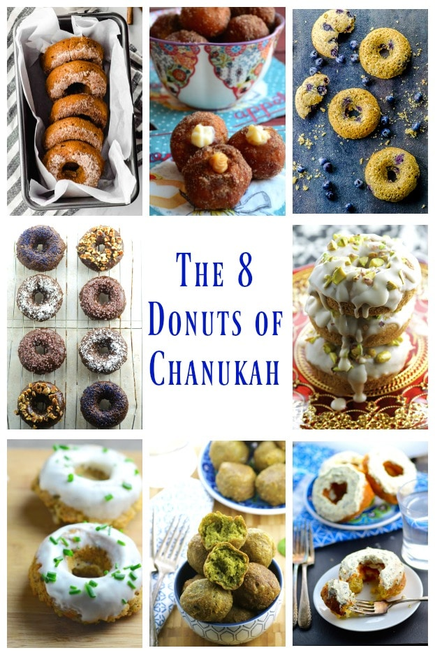Collage of Chanukah donuts
