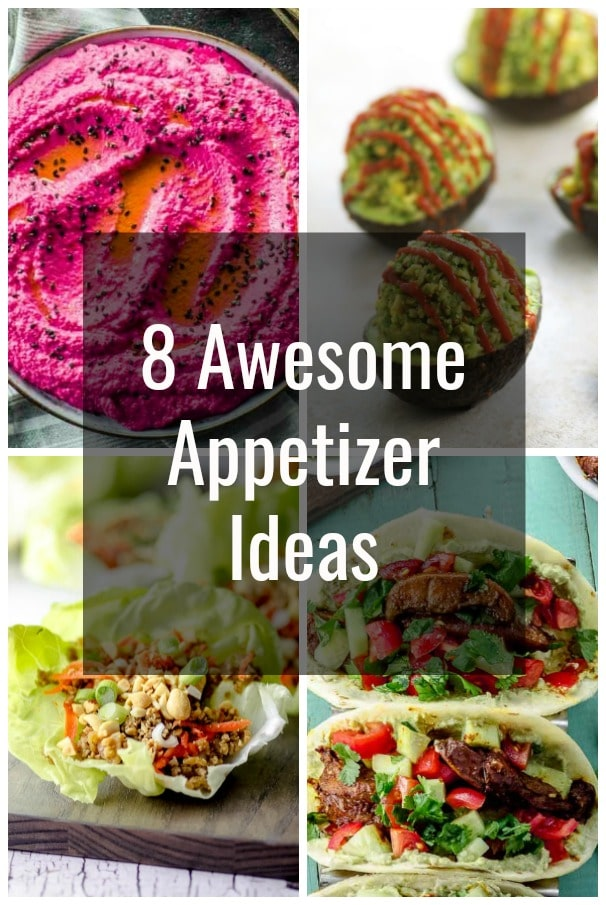 picture collage with appetizer ideas