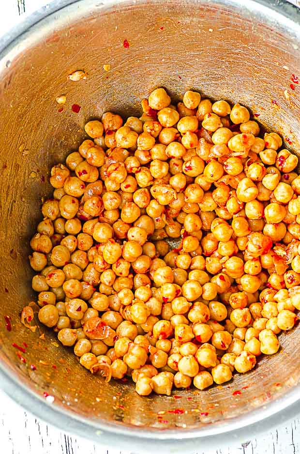 chickpeas with harissa for roasted chickpeas
