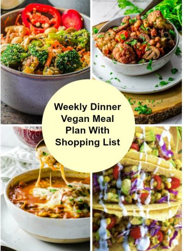 Weekly Dinner Vegan Meal Plan With Shopping List 3