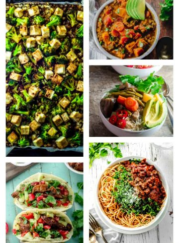 Weekly Dinner Vegan Meal Plan With Shopping List 1