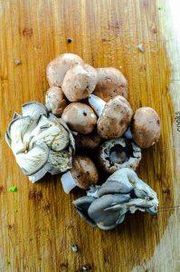 Assorted mushrooms for quinoa fried rice