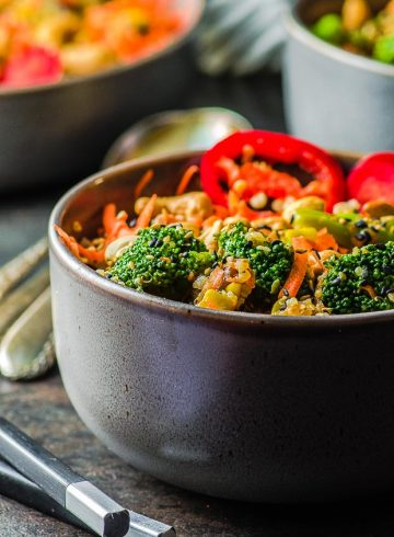 Veggie Loaded Quinoa Fried Rice