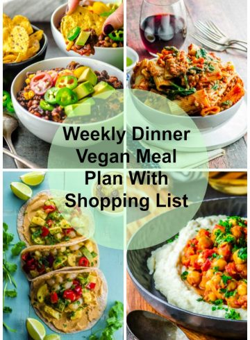 Weekly Dinner Vegan Meal Plan With Shopping List 2