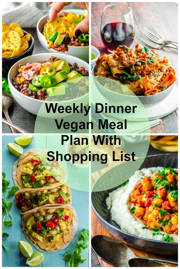 Weekly Dinner Vegan Meal Plan With Shopping List
