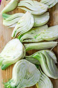 raw fennel for fennel salad