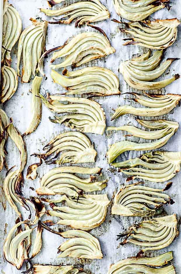 Roasted fennel for fennel salad