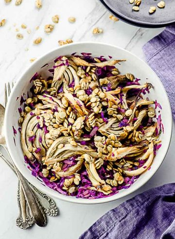 Warm Roasted Fennel Salad For Two