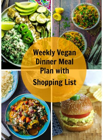 Weekly Dinner Vegan Meal Plan With Shopping List 6