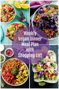 Vegan meal plan images