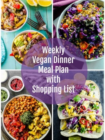 Vegan meal plan images