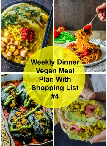 Weekly Dinner Vegan Meal Plan With Shopping List 4
