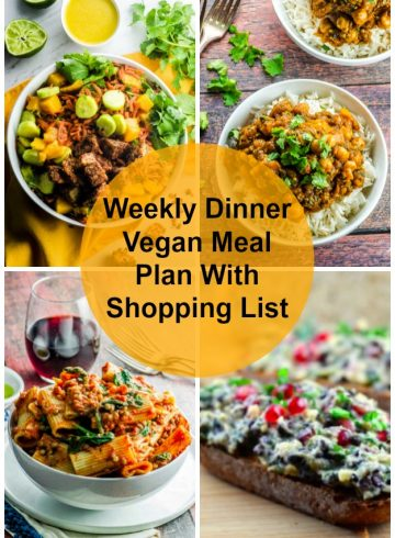 Weekly Dinner Vegan Meal Plan With Shopping List 5