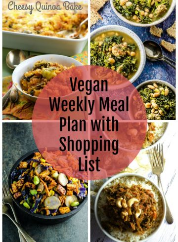 Weekly Dinner Vegan Meal Plan With Shopping List 8