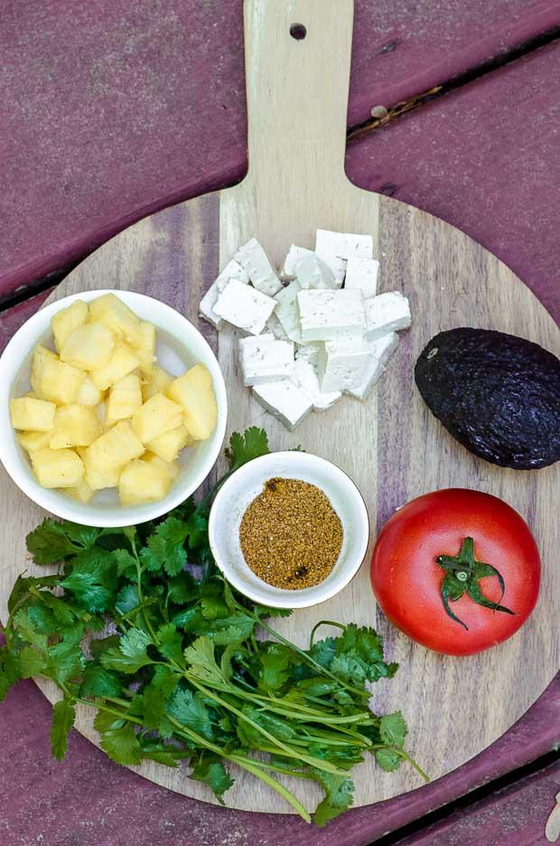 Ingredients to make Tacos al pastor