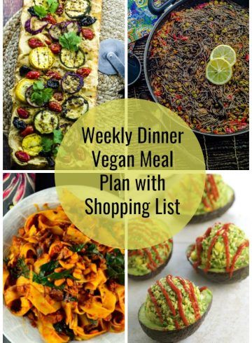 Weekly Dinner Vegan Meal Plan With Shopping List 10