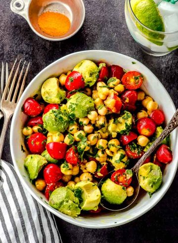 Easy Tomato Avocado Chickpea Salad