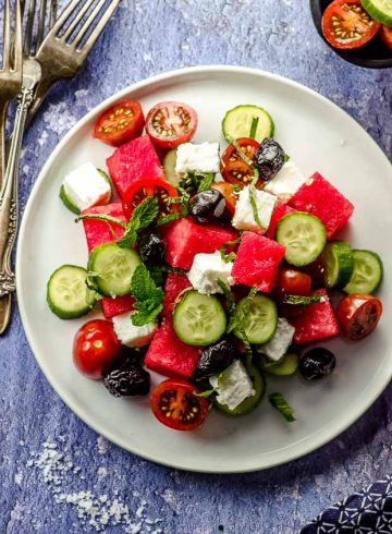 Cucumber Feta and Watermelon Salad