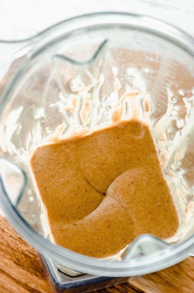 Date caramel in a blender