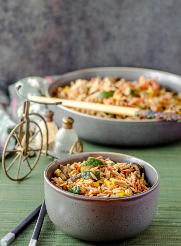 High Protein Shiitake Fried Rice