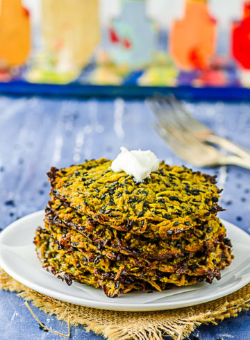 Asian Inspired Butternut Squash Latkes