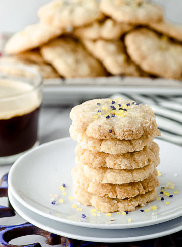 Vegan Butter Cookies With Sparkling Sugar