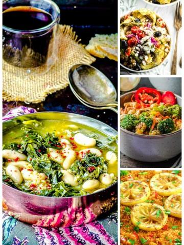 A picture collage of quinoa recipes