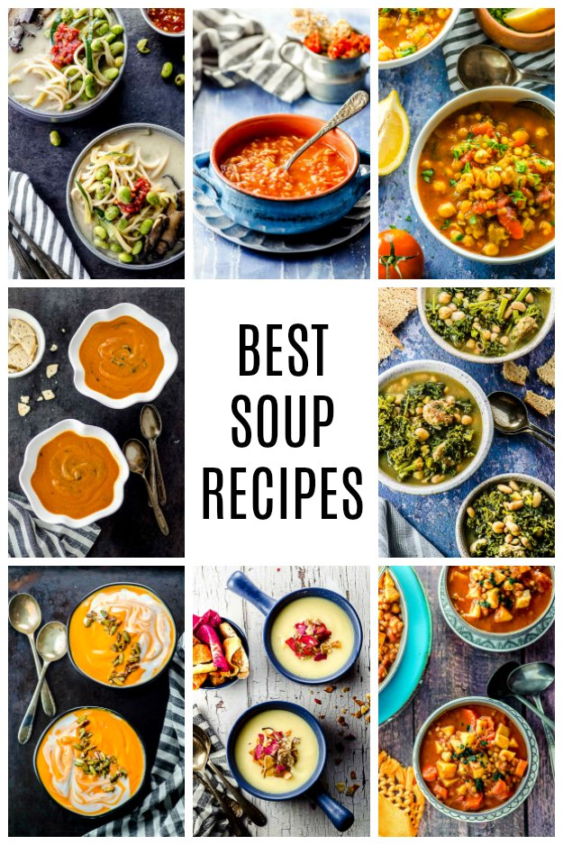 A photo collage of best soup recipes