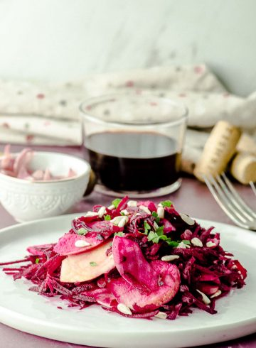 Apple Beet Salad with Pickled Onions