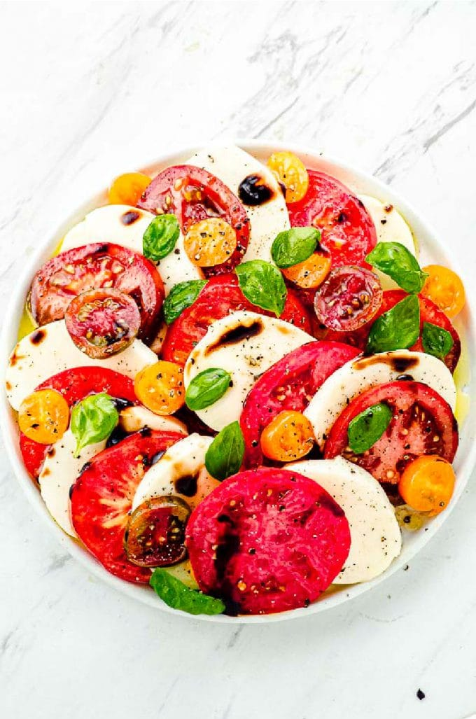 Caprese Salad With Balsamic Glaze May I Have That Recipe