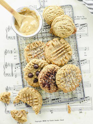 Overhead view of 3-ingredient peanut butter cookies