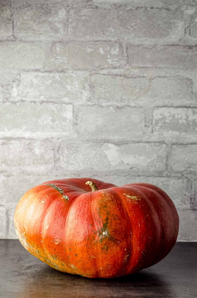 A whole cinderella pumpkin