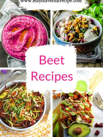 A Collage of 4 beet recipes