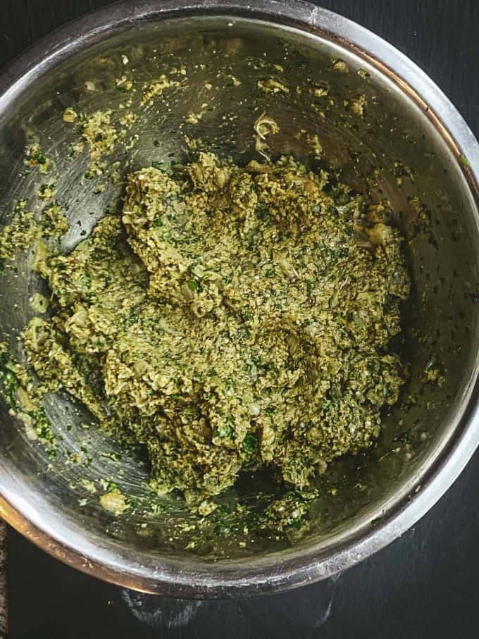 eggplant veggie meatballs mixture